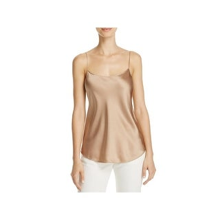 Vince Womens Camisole Top Silk Scalloped
