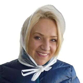 RainStopper Women's Clear Waterproof Rain Bonnet Hat (Pack of 3) - One Size