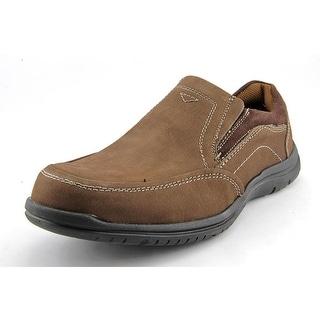Florsheim Pacer Moc Slip Men XW Round Toe Leather Brown Loafer