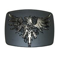 Chrome Phoenix Belt Buckle