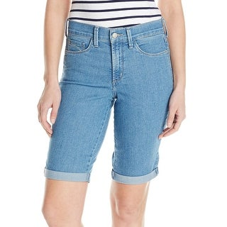 NYDJ NEW Blue Women's Size 10 Denim Tumm-Control Cuffed Jean Shorts