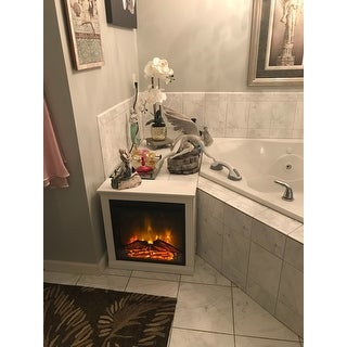 Shop Ameriwood Home Bruxton Electric Fireplace Free