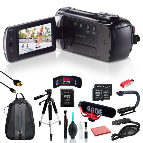 Samsung HMX-F90 Camcorder w/ 11pc Accessories + 2x64GB SD Card Bundle