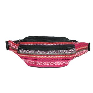 CTM® Fashion Striped Jute Waist Pack