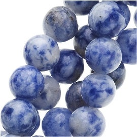 Denim Lapis Lazuli Round Beads 6mm / 15 Inch Strand