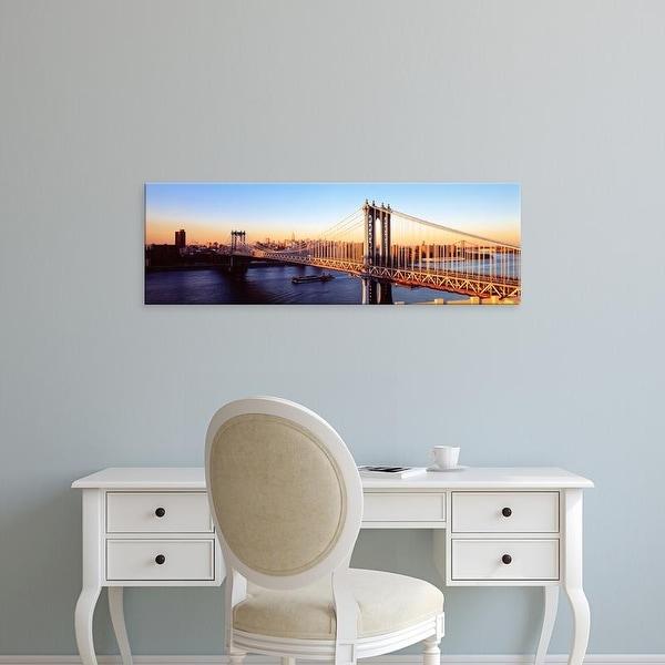 Easy Art Prints Panoramic Images's 'Manhattan Bridge, NYC, New York City, New York State, USA' Premium Canvas Art