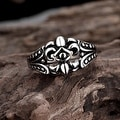 Vienna Jewelry Spartan Shield Stainless Steel Ring - Thumbnail 1