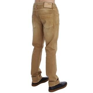 ACHT Beige Wash Cotton Stretch Regular Fit Jeans - w34