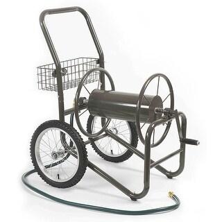 Liberty Garden Products 880-2 Industrial 2 Wheel Pneumatic Tires Garden Hose Reel Cart - Bronze