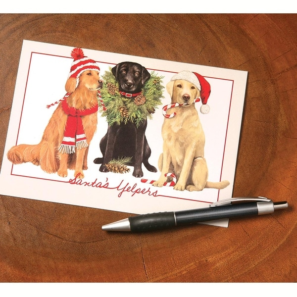 Shop santas yelpers dog holiday greeting cards set of 10 santax27s yelpers dog holiday greeting cards set of 10 multicolor m4hsunfo