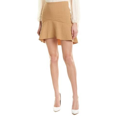 Alice + Olivia Steffe Linen-Blend Mini Skirt