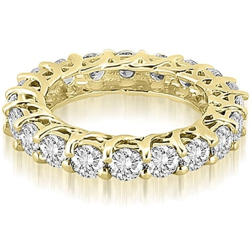 14K Yellow Gold 3.30 cttw. Round Diamond Eternity Ring HI,SI1-2