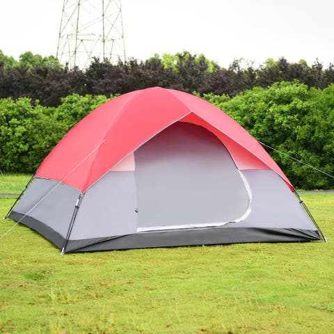 6 Persons Pop Up Easy Set-up Camping Tent with Bag