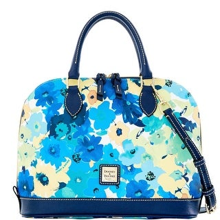 Dooney & Bourke Somerset Watercolor Zip Zip Satchel (Introduced by Dooney & Bourke at $228 in Jan 2016) - Marine