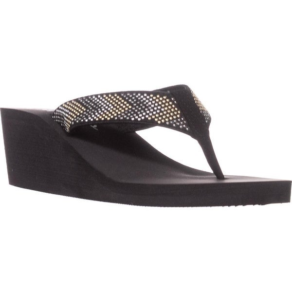 callisto Jester Platform Flip Flops, Black