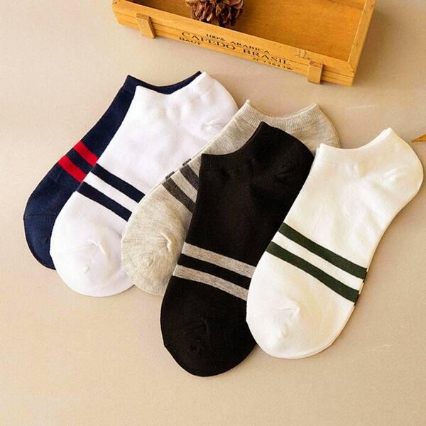 ZEFOTIM ✿ 1Pairs Ankle Socks Women Comfortable Stripe Cotton Sock Slippers Short Socks