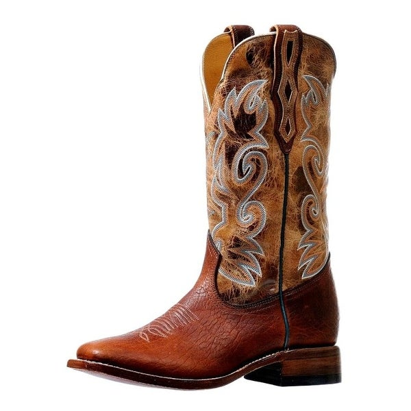 Boulet Western Boots Mens Double Stitch Delantero Utta Whisky