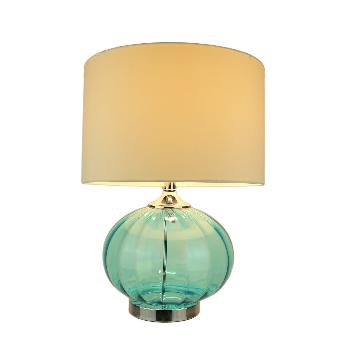 Shop New Port Sea Blue Glass Metal Table Lamp 22 In Tall 15 In White Linen Shade 22 X 15 X 15 Inches Overstock 18796149