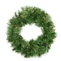 "24"" Pre-Lit Mixed Cashmere Pine Artificial Christmas Wreath - Multi-Color Lights"