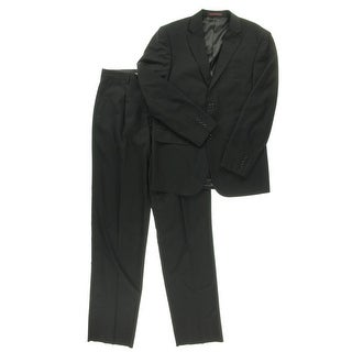House of St. Benets Mens Modern Fit Notch Collar Two-Button Suit - 38L