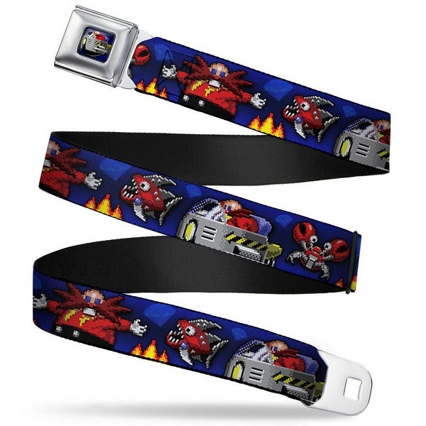 Sonic Classic doctor Eggman Flying Egg Mobile Pixelated Full Color Doctor Seatbelt Belt