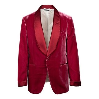 Tom Ford Red Velvet Shawl Lapel Shelton Cocktail Jacket