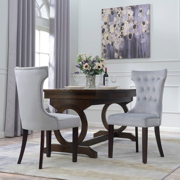 Shop Belleze Premium Dining Chair Accent Living Room Nailhead Side ...