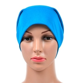 Muslim Scarf Kerchief Hat Solid Color turquoise