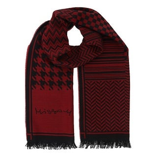 Missoni SC12WOU5857 0002 Red/Black 100% Wool Scarf