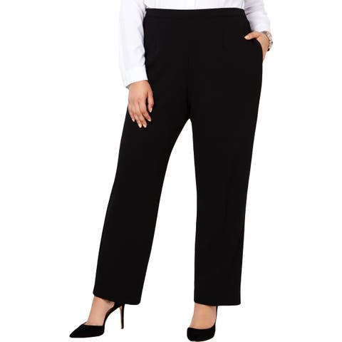 Alfred Dunner Womens Plus Casual Pants Traditional Fit Comfort Waist