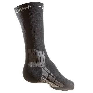 Dissent Genuflex Protect 8in Cycling Compression Socks - Black