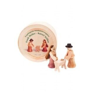 DREG 070-040 Dregeno Chip Box - Natural Wood Nativity