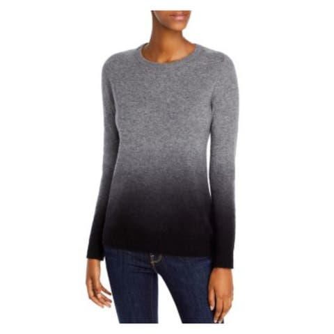 C by Bloomingdales Gray Long Sleeve Sweater S