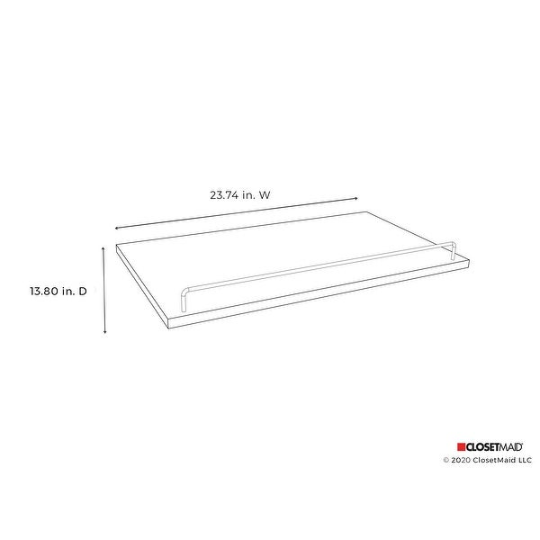 ClosetMaid SuiteSymphony 25-Inch Wide Angled Shoe Shelves