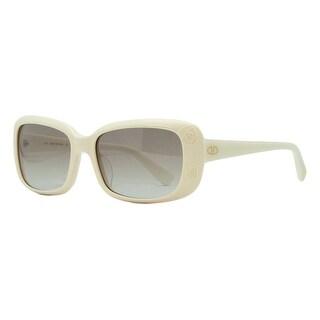 Valentino V 619S 103 Ivory Classic Rectangular Sunglasses