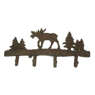 Cast Iron Moose Wall Hooks Set of 2