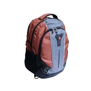 "SwissGear The Jupiter 16"" Orange Grey Laptop Backpack Case"