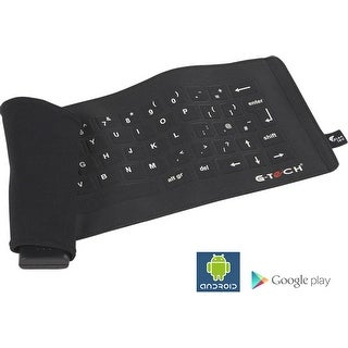 G-Tech Fabric Roll-Up Bluetooth Wireless Keyboard for Motorola Droid RAZR, Droid