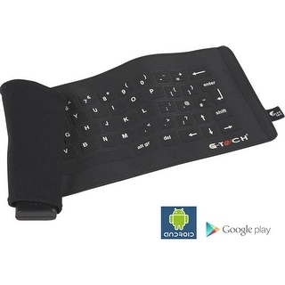 G-Tech Fabric Wireless Bluetooth Keyboard for Samsung Galaxy Note,  Motorola Dro