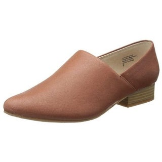 B&C Home Goods Womens Take A Bow Leather Slip On Oxfords - 7.5