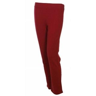 Sutton Studio Women's Cashmere Slim Leg Lounge Pant Plus - Chili - 2x