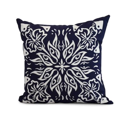 18 x 18 Inch Cuban Tile 3 Geometric Print Outdoor Pillow