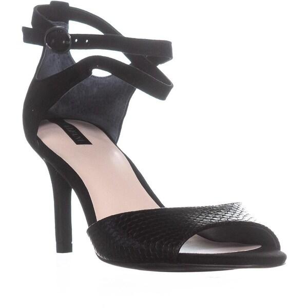 A35 Galeah Criss Cross Ankle Strap Sandals, Black