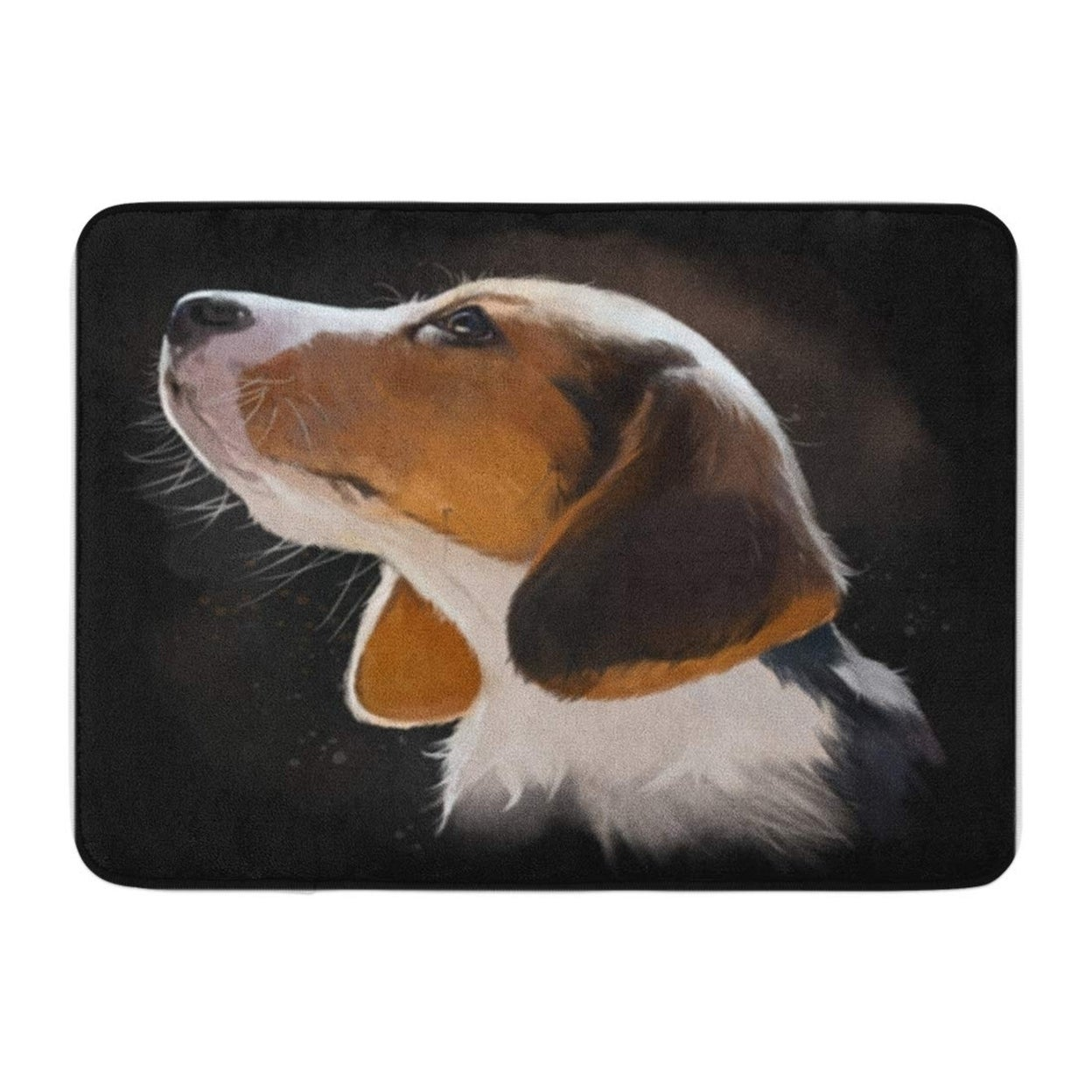 Brown Beagle Puppy Portrait Watercolor Painting Adorable Beautiful Doormat Floor Rug Bath Mat 30x18 Inch Multi On Sale Overstock 31778650