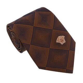Versace Brown Woven Diamond Vector Tie