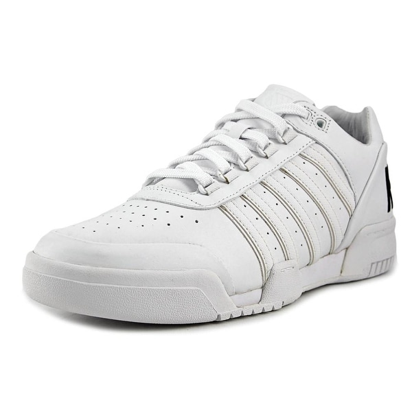 K-Swiss Gstaad BL Men White/Black/Big Logo Tennis Shoes