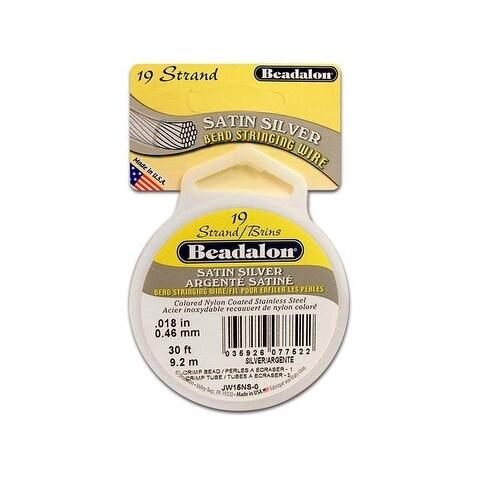 "Beadalon Bead Wire 19Strand .018"" Satin Silver 30'"