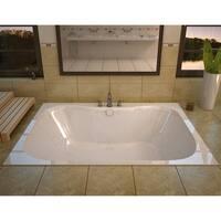 "Avano AV4060NWL Maui 58"" Acrylic Whirlpool Bathtub for Drop-In Installations with Center Drain - White - N/A"