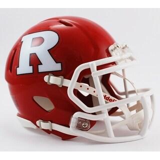 Rutgers Riddell Speed Mini Football Helmet