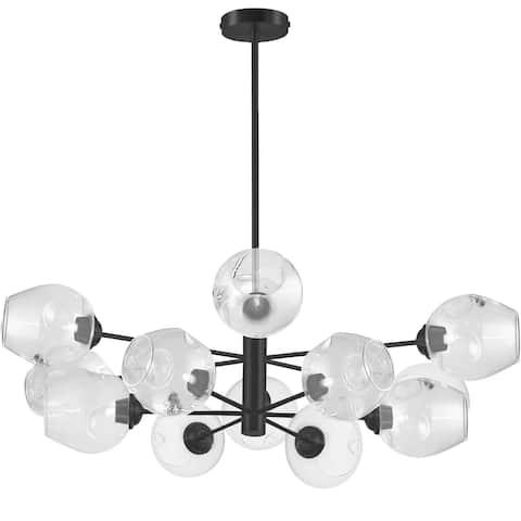 Dainolite Abii Transitional Matte Black Luxury Pendant Light Modern Pendant Light kitchen island lighting